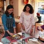 Fra venstre: Grethe Waseth, Indisk jente, Niru Kumra, Renata San Martin.